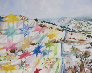 "Snow Blanket, oil on canvas, 16 x 20"" 2014"