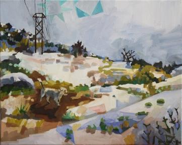 "Winter Walk, oil on canvas, 16 x 20"", 2014"