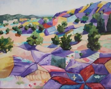 """Buffalo Thunder Quilt, oil on canvas, 16 x 20"""", 2014"""
