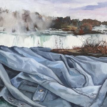 Falls, oil on canvas, 12 x 12, 2016