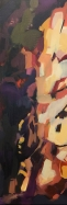 "Path Abstraction 2, acrylic on canvas, 10 x 30"" 2017"