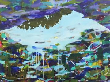 "Matin (morning) acrylic on canvas, 30 x 40"" 2017"