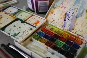 travel watercolors