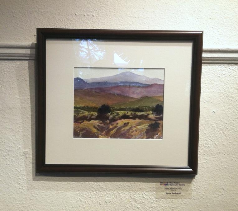 """My piece, New Mexico Hills, 8 x 10"""""""