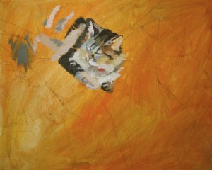 painting in the kitten