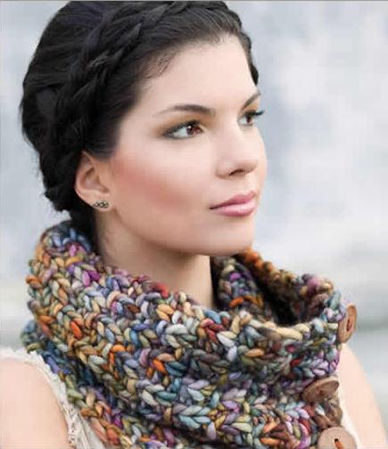 malabrigo yarn cowl pic