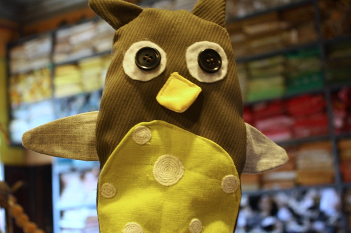 hand puppet of an owl