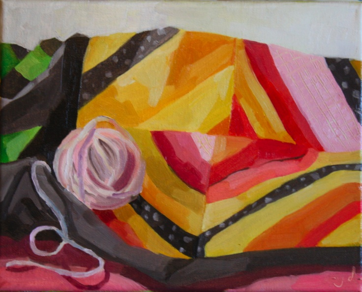"Blanket Landscape Study 3, oil/canvas, 8 x 10"""