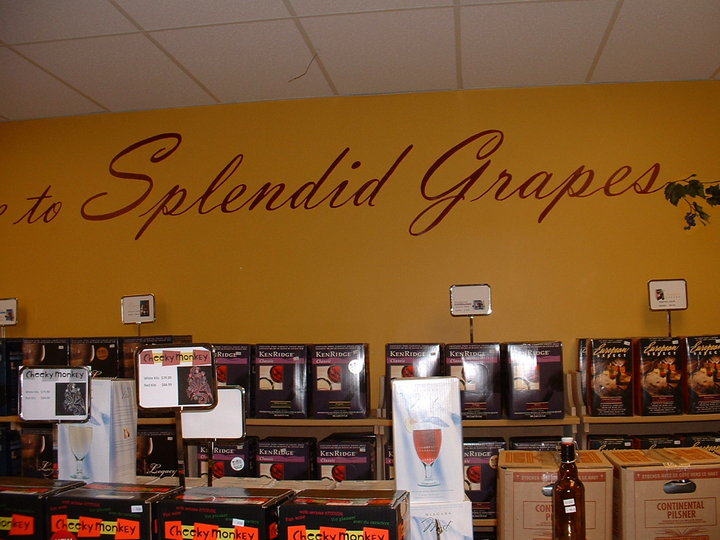 wall mural for splendid grapes