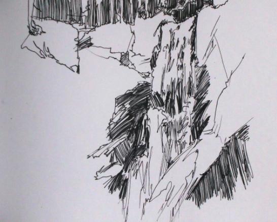 Drawing of waterfall
