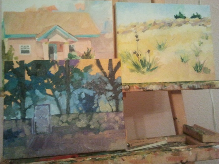 en plein air paintings from Southwest series - in progress