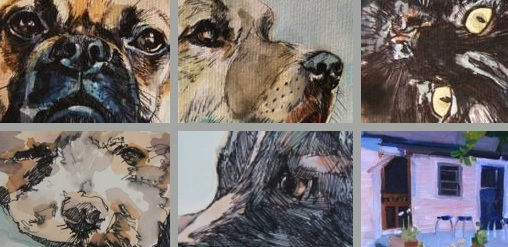 commissioned pet portraits and house portraits