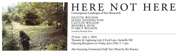 Invitation to art exhibit at Thunder and Lightning