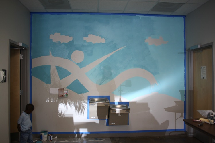 picture of mural at greensboro irc