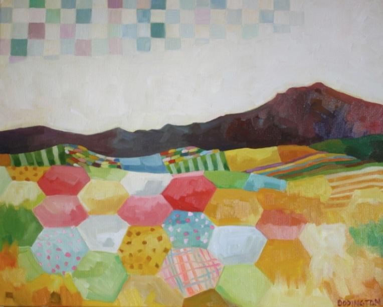 "Desert Quilt, oil/canvas, 18 x 18"""