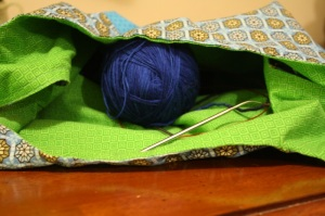 photo of sewn bag lining
