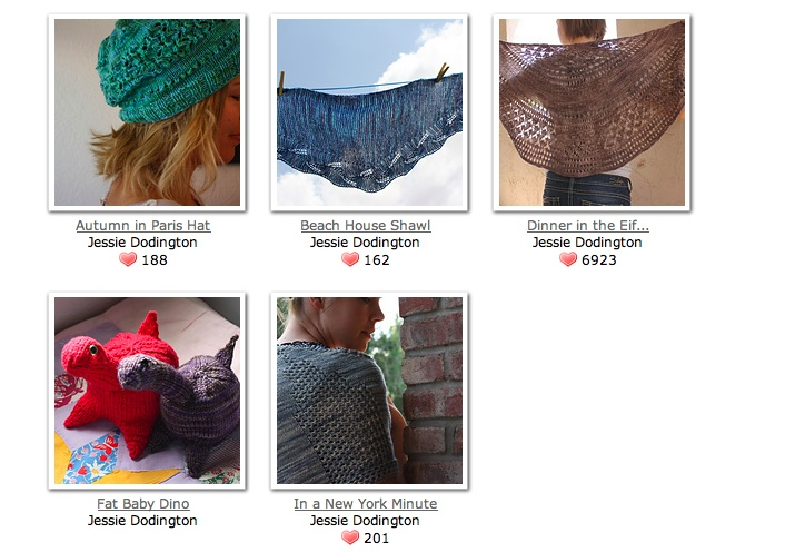 My designer page on ravelry.com