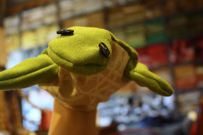 hand puppet of a turtle