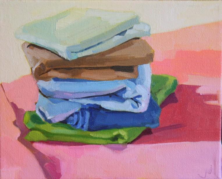 "Fabric Landscape Study 4, oil/canvas, 8 x 10"""