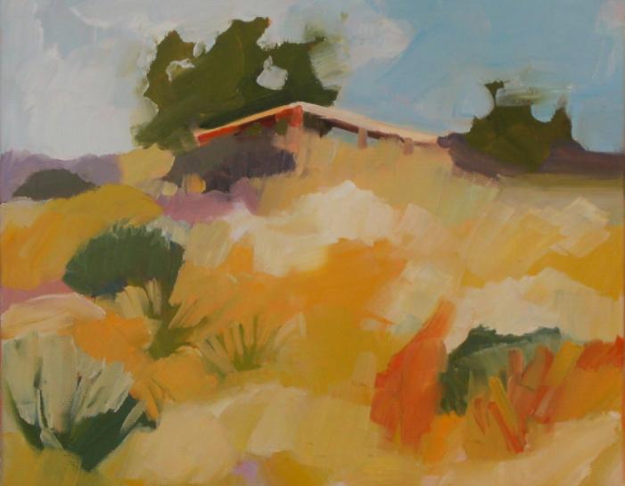 oil painting of desert landscape