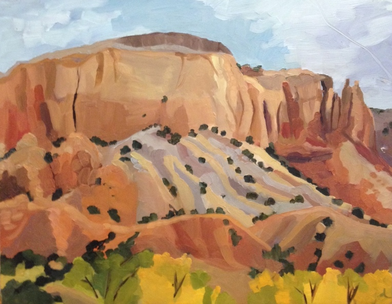 Ghost Ranch Rocks, oil on board, 11 x 14""