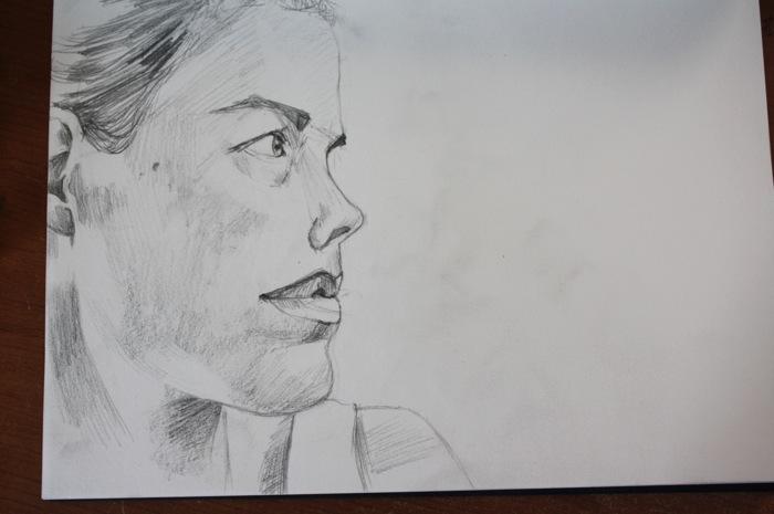 portrait drawing graphite