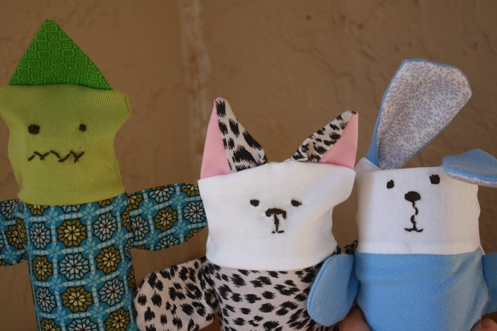 hand sewn puppets