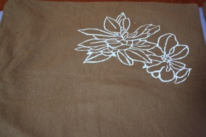 floral screen printing image