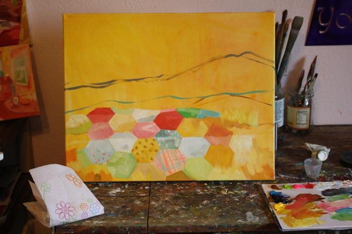 Desert Quilt... in progress