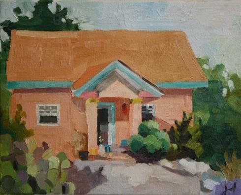"""Southwest House, oil/canvas, 8 x 10"""""""