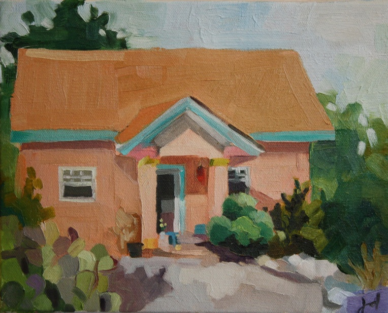 Southwest House, oil/canvas, 8 x 10""