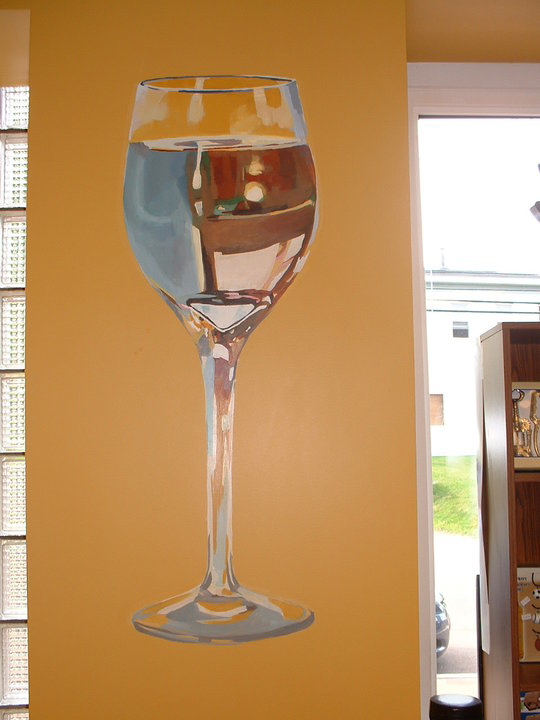 painting of wine glass
