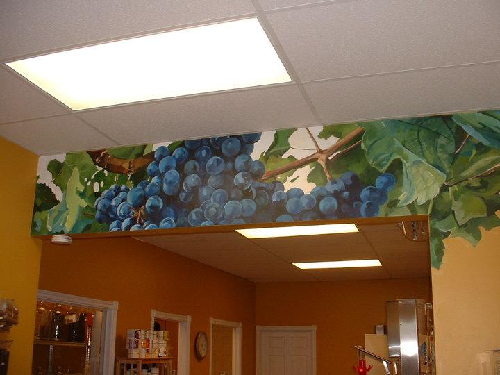 mural of grapes