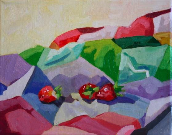 "Blanket Landscape Study 5, oil/canvas, 8 x 10"""