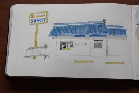 Daylight Donuts, sketchbook