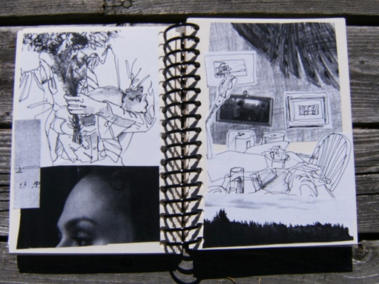 photo of sketchbook
