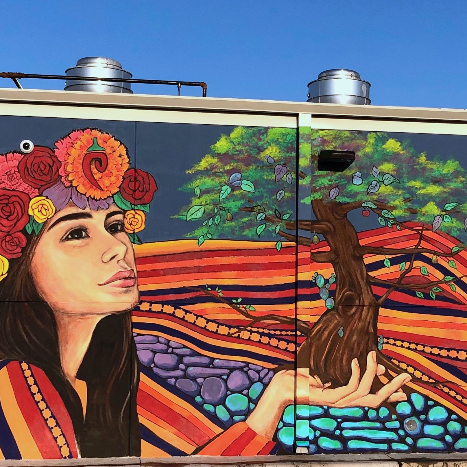 close up of the Picoso's Mexican Kitchen mural